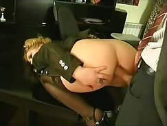 Anal fuck at hour office insertions and object control analfuck