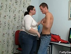 Curvy teacher Jenna More gets her pussy eaten and fucked