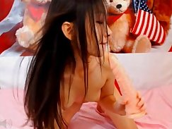 Chinese play with Dildo and Wank
