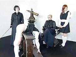 crossdresser spanking the horny black woman