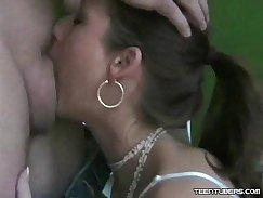 BIRTY Lexi Belle gives intense deep throat to Tori Bensons German David