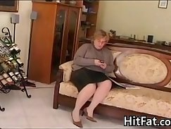 Chubby granny getting fucked in standing position