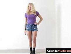 Beautiful amateur blonde Elena gets hammered