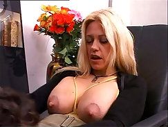 Bankrupt immigrant guy lets loose his boss and fucks up his milf with natural tits