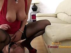 BBW Mistress Sissy Plays with Toys