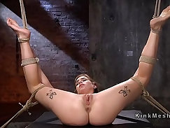 blonde babe on the bar was getting fucked hard on the table