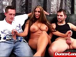 Classy mom with juicy tits titfucks on webcam