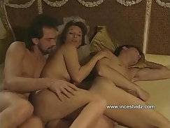 Beautiful wife amazing threesome with boyfriend and mother