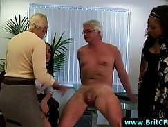 Cheated english mature gets punished