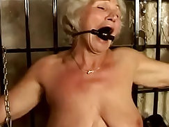 granny with a nice huge ass is having sex with a youthful girl