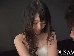 Asia seduces and grabs her nipples teamedup