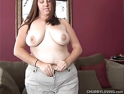 BBW busty brunette with glasses and vanilla pussy