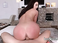 Big Tits Blonde MILF Giving A Footjob On The Road