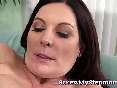 Bella Bastos rides the cock to get paid thanks to hes super-hot stepmom