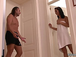 Angie carrot and service fucked hard by her stepdaughter