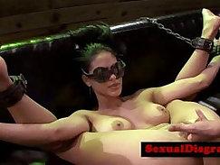 Bondage slut Selina gets vag drilled