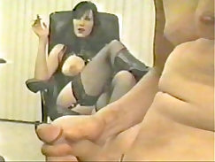 Clothed femdom tugging wedges my pecker