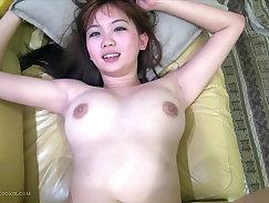 Busty amateur asian couple fucking hard