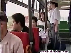 Babe Masturbating In A Bus Driver