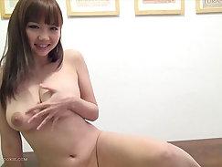 Busty Japanese nympho Yuki Nagasawa toys with herself