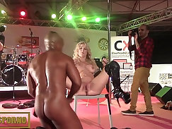 Amazing Ebony Blonde Penelope Taking Big Dick POV