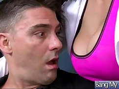 Bald headed doctor drilled hard by a hot masseuse