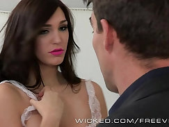 Alluring brunette Holly Michaels pounded in various modes