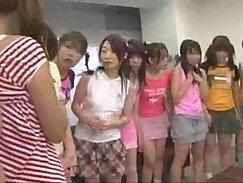 Curvy Japanese schoolgirl has naughty fun on sofa with her teacher