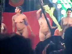 After taking the record, nude started doing dancing