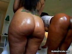 Big Booty Ebony Slut Getting Her Ass Fondled