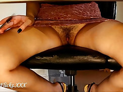 Boss gets sissy pounded in office