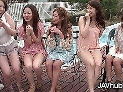Japanese Girl Loves Hardcore Gangbang