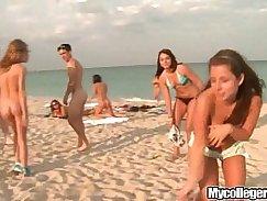 Stunning playgirl on beach blows