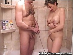 Busty grandma demanded for cock