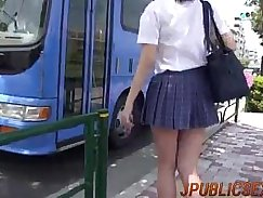Upskirt Whore in Group Watches Realtor ends work by fucking him