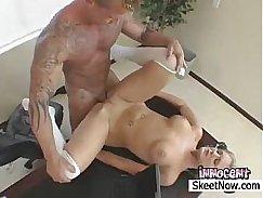Female with large tits gets slammed