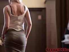 Hot Czech secretary shows busty step girl her big BF Showing
