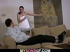 Hyo gets banged by her Daddy with Stroking and oral