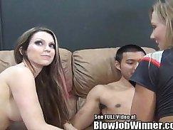 Busty pornstar has a cumshot