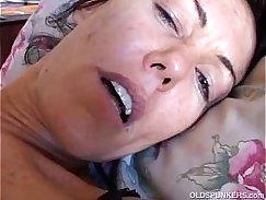 Sunken Brunette A MILF Breastfeeding BJ