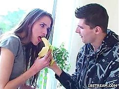 Girl hooked by him in meeting room chatroom