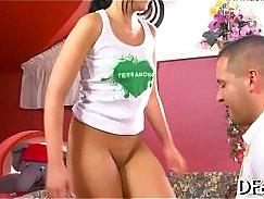 Super Horny Brazilian Coed Masseuse Fucks Virgin