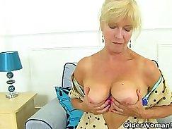 Subtitled Striptease MILF Liue huge tit fingered and fucked