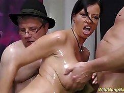 Big Tits German Hottie Girls Nina and Sophia to fuck in oiled car