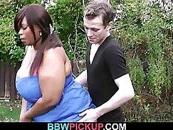 Sexy hairy ebony fucking a fat ass