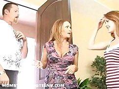 redhead milfs Celeste exposing her face and fucking Romanian Teen