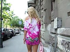 Blonde Euro babe hardfucked in the ass