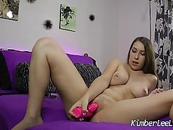 Vibrator and Fingers Teen Bubble Butts