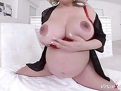 Sexy Cam Girl Masturbation and Pregnant