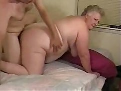 granny pleases the man she loves on the bed
